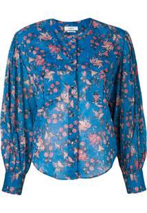 Isabel Marant Étoile Blusa Com Estampa Floral - Azul