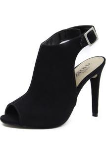 Sandália Shoes Inbox Sandal Boot Salto Fino Preto