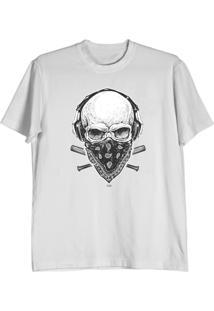 Camiseta Cnx Clothing Caveira Fone Branca