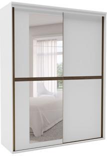 Guarda-Roupa Solteiro Sofisticato Com Espelho 2 Pt 3 Gv Branco