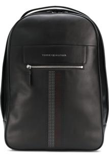Tommy Hilfiger Logo Zipped Backpack - Preto