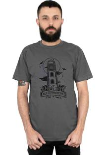 Camiseta Bleed American Lighthouse Chumbo