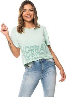 Cropped Down The Line Mormaii Feminino - Feminino-Verde Claro