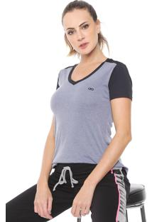 Camiseta Alto Giro Recortes Cinza/Preta