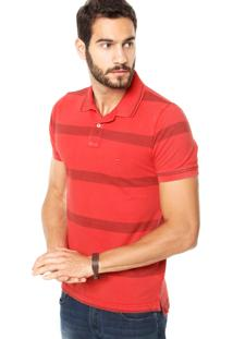 Camisa Polo Tommy Hilfiger Slim Fit Vermelha