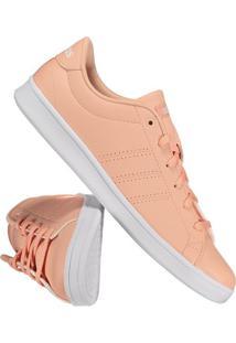 ... Tênis Adidas Advantage Clean Qt Feminino Salmão 638f24968cf1e