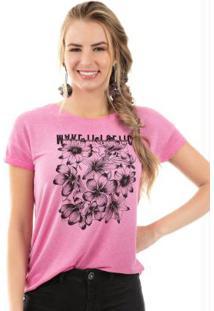 Blusa Com Estampa Tropical Rosa