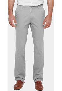 Calça Slim Bluebay Slim Sarja Color Masculina - Masculino