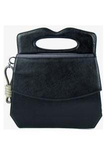 Bolsa Handbag Soleah Manton Feminino - Feminino-Preto