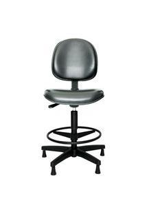 Cadeira Caixa Prolabore. Linha Spin. Sintético. Anatômica. Giratória. Mecanismo V/H. Alta Com Aro Ajustável. Sapatas. Prolabore Produtos Ergonômicos