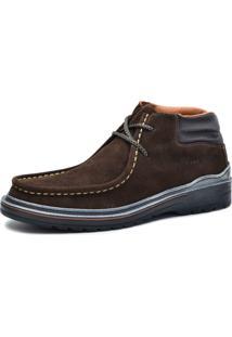 Bota Worker Over Boots Couro Camurça Marrom