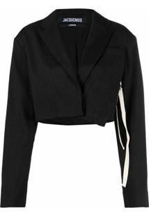 Jacquemus La Veste Santon Cropped Suit Jacket - Preto