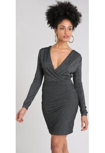 8db86bb5af Vestido Lurex Preto feminino