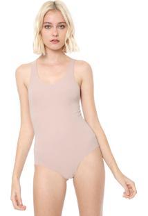 Body Calvin Klein Underwear Day By Day Bege - Bege - Feminino - Poliamida - Dafiti
