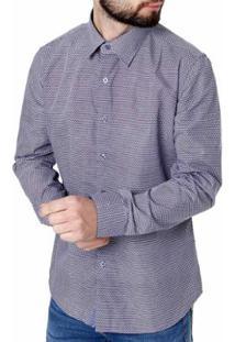 Camisa Manga Longa Crocker Masculina - Masculino-Azul