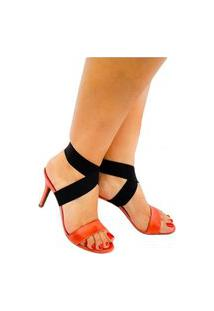 Sandália Appleshoes Tiras Couro Coral 2 Forma De Usar