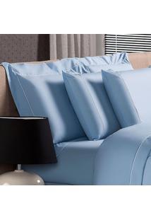 Fronha Avulsa Plumasul Premium Clean 230 Fios 50X90Cm Azul