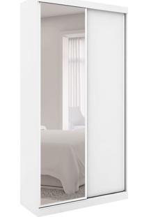 Guarda-Roupa Closet Modulado Virtual I Com Espelho 2 Pt 6 Gv Branco Fosco E Amadeirado
