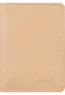 Carteira M.Art Slim Pelica 207Ca Castor Bege