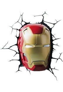 Arandela 3D Mascara Homem De Ferro 1,5W Vermelho Startec