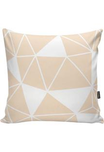 Capa De Almofada Geometric- Nude & Branca- 45X45Cm