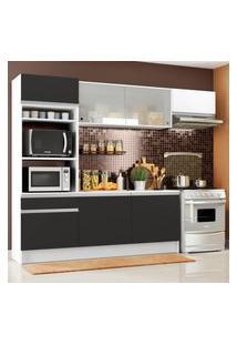 Cozinha Completa Madesa Topazio Com Um Balcáo, Armário E Tampo Branco