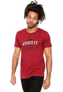 Camiseta Juice It Manga Curta Western Sign 18742 Vinho