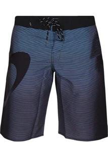 Bermuda Água Oakley Faded Stripes Masculina - Masculino-Preto