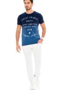 Camiseta Lavish Tie Dye Azul Marinho