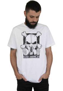 Camiseta Bleed American Gas Mask Branca