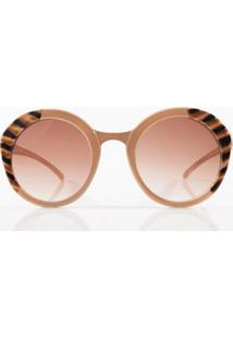 Oculos Dframe Lateral Bicolor Bege - Tu