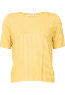 Blusa Dzarm Canelada Amarela