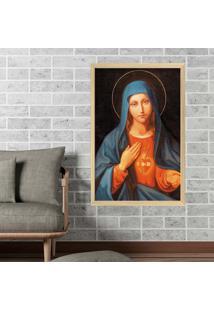 Quadro Love Decor Com Moldura Nossa Senhora Madeira Clara Mã©Dio - Multicolorido - Dafiti