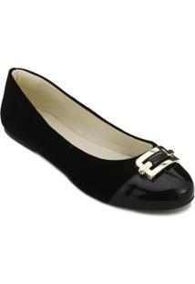 Sapatilha Angela Shoes Sense Feminina - Feminino-Preto