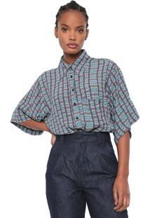 Camisa Colcci Geométrica Verde
