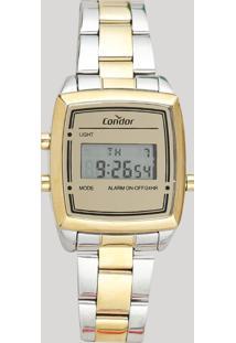 Relógio Digital Condor Feminino - Cojh512Aa5D Dourado - Único