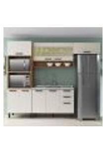 Cozinha Compacta New Jazz Ii 9 Pt 2 Gv Off White E Freijó