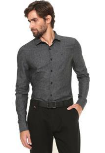 Camisa Calvin Klein Slim Cannes Cinza