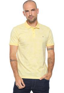 Camisa Polo Aramis Estampada Amarelo