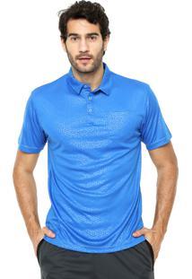 Camisa Polo Broken Rules Geométrica Azul