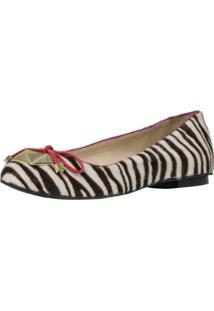 Sapatilha Guilhermina Zebra Estampado
