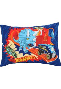 Fronha Avulsa Lepper Dupla-Face Hot Wheels 50 Cm X 70 Cm