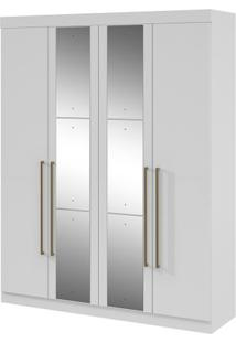 Guarda-Roupa Castellaro - 4 Portas - Branco - Com Espelho
