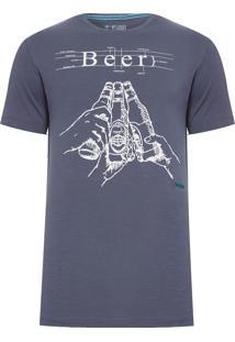 Camiseta Masculina Beer - Cinza