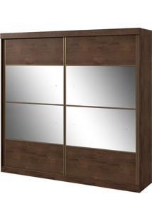 Guarda-Roupa Da Vinci New - 2 Portas - Imbuia Soft - Com Espelho