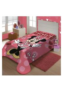 Cobertor Raschel Plus Disney Amiga Minnie Jolitex