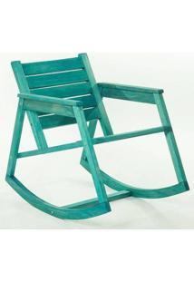 Cadeira Balanço Janis Azul Mão E Formão