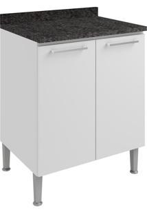Armário De Cozinha 2 Portas 70 Cm 0873 Branco - Genialflex