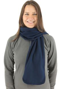 Cachecol Termico Fiero Classic Thermo Fleece Azul Marinho