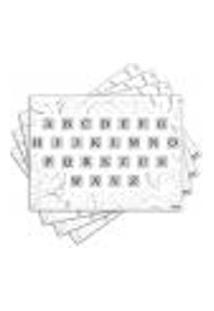 Jogo Americano - Alfabeto Com 4 Peças - 748Jo